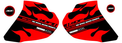 XR250Fire貼紙 水箱罩貼紙組