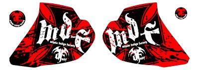 【MDF】XR250Bloody貼紙 水箱罩貼紙組 - 「Webike-摩托百貨」