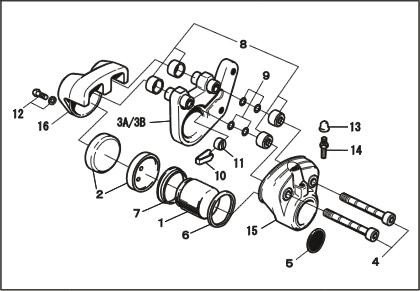 煞車卡鉗組件部件 卡鉗滑動螺絲(2本組)