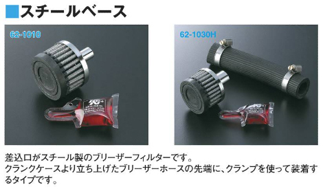 K&N 區軸箱通氣濾芯 (金屬底座)