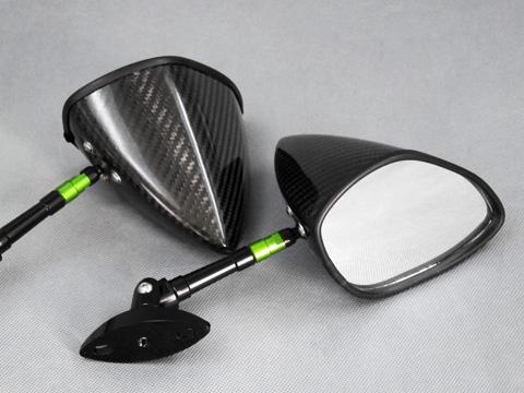 全方向可調式碳纖維後視鏡 整流罩款式用 Type6