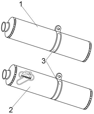 排氣管尾段 (雙排氣管/螺絲固定式)