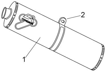 排氣管尾段 (單排氣管)