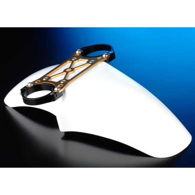 OHLINSφ43正立式前叉専用 FRP前土除/前叉穩定器(手銬)套件 (Racing 17吋用)