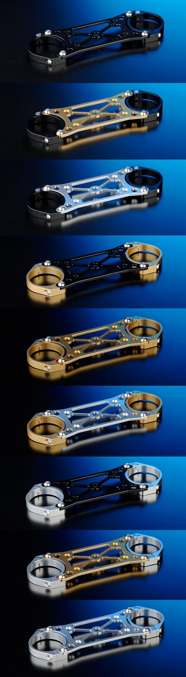 【NITRO RACING】OHLINSφ43正立式前叉専用 碳纖維前土除/前叉穩定器(手銬)套件 (Racing 17吋用)