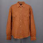 デグナー:DEGNER/ウォッシュ加工のレザーシャツ