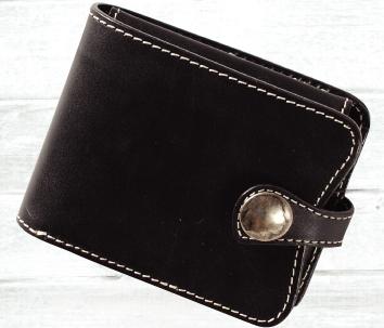 皮革對摺錢包