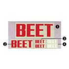 【BEET】BEET 貼紙 SMALL