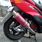 【BURIAL】Metal Hybrid Drager 全段排氣管 紅