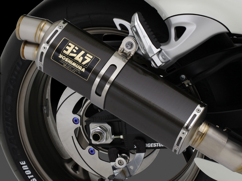 【YOSHIMURA】RACING CYCLONE 三角型鈦合金雙孔全段排氣管 - 「Webike-摩托百貨」