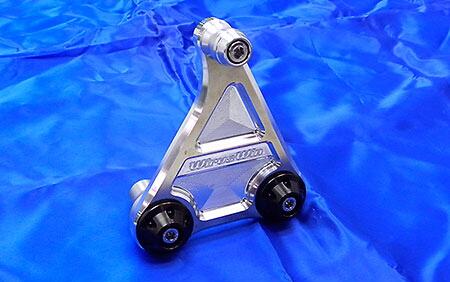 短版全段排氣管専用鋁合金圓柱支架 銀色版