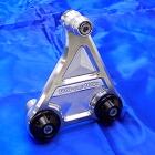 【WirusWin】短版全段排氣管専用鋁合金圓柱支架 銀色版