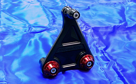 短版全段排氣管専用鋁合金圓柱支架 黑色版