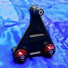 【WirusWin】短版全段排氣管専用鋁合金圓柱支架 黑色版