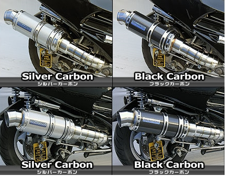 Premium全段排氣管 銀色碳纖維款式 附觸媒 (排氣淨化觸媒)