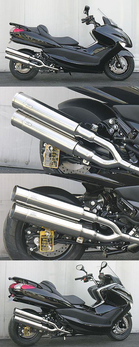 Stylish雙出全段排氣管 火箭筒型 附觸媒 (排氣淨化觸媒)