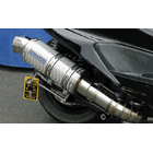 【WirusWin】Premium全段排氣管 銀色碳纖維款式 附觸媒 (排氣淨化觸媒)