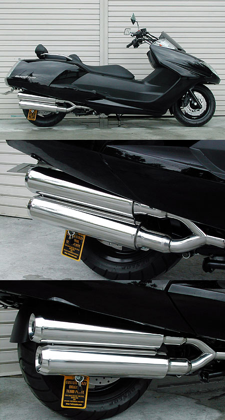 Stylish雙出全段排氣管 Jet型 附觸媒 (排氣淨化觸媒)