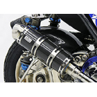 【WirusWin】Royal全段排氣管 Popper型 黑色碳纖維款式+加高套件