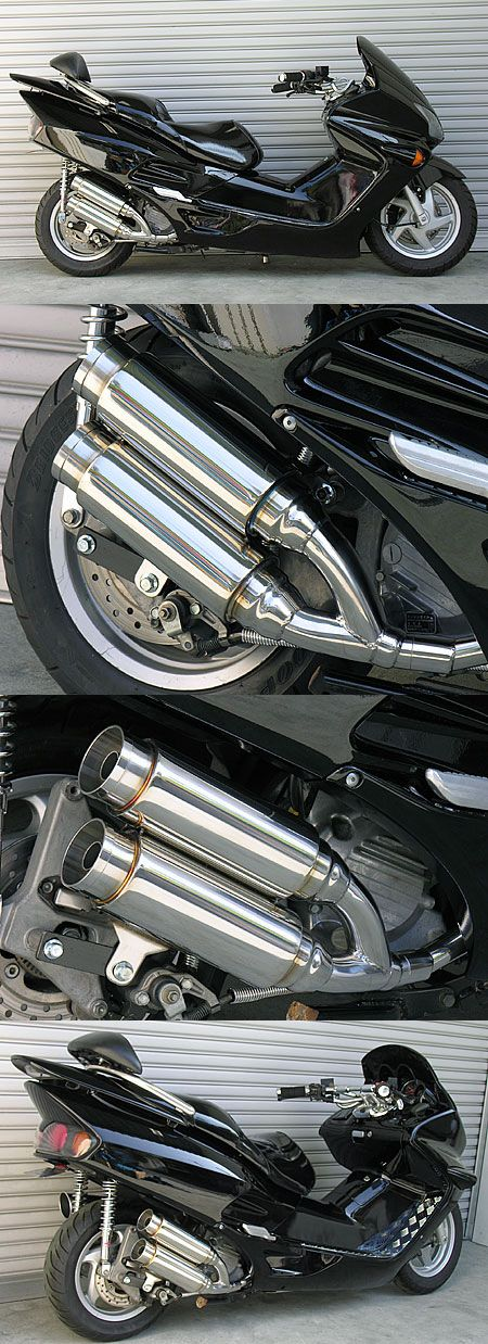 Atomic Twin全段排氣管 火箭筒型 附觸媒 (排氣淨化觸媒)