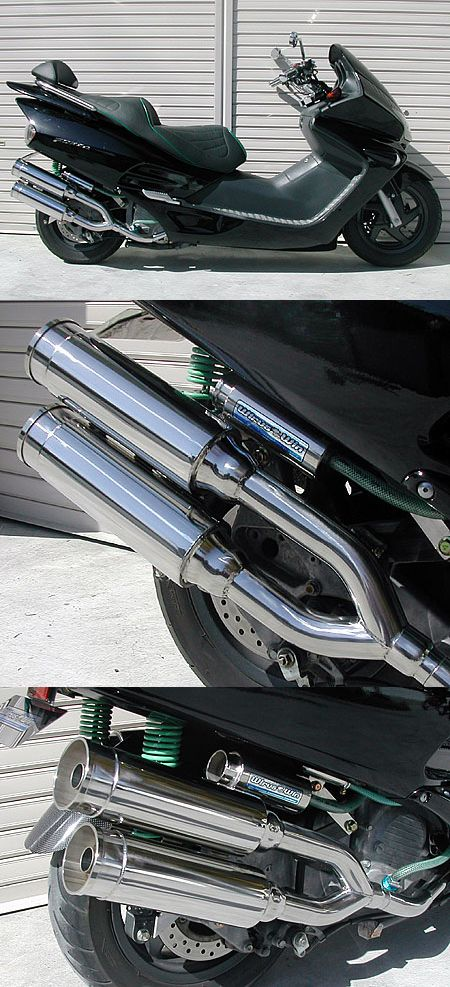雙出全段排氣管 火箭筒型