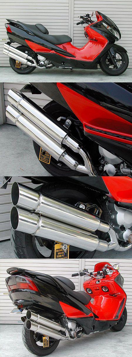 Stylish雙出全段排氣管 Popper型 附觸媒 (排氣淨化觸媒)