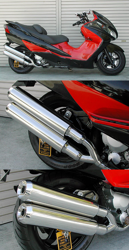 Stylish雙出全段排氣管 Jet型
