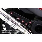 【WirusWin】Anniversary 切削加工排氣管専用支架 (黑色版)
