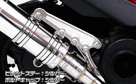 Anniversary 切削加工排氣管専用支架 (銀色版)