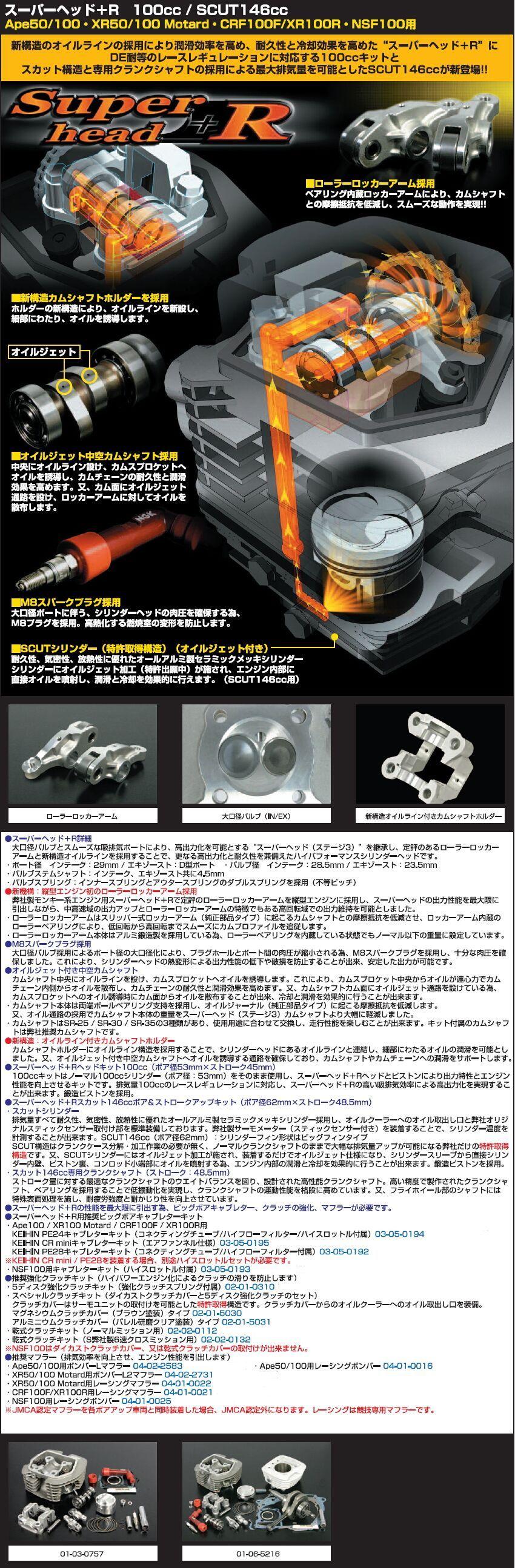 【SP武川】超級汽缸頭+R Head套件100cc - 「Webike-摩托百貨」