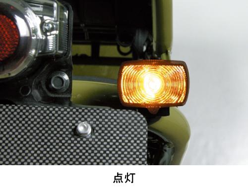 【SP武川】HONDA方型型式方向燈燻黑燈殼方向燈(2個/組) - 「Webike-摩托百貨」