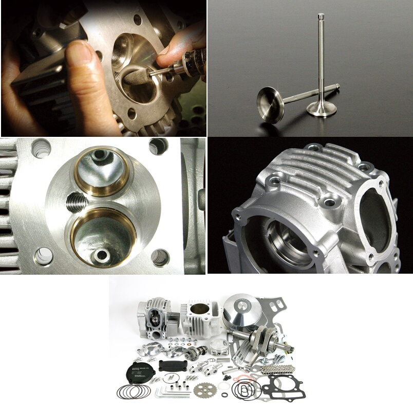 超級汽缸頭+R 124cc缸徑,行程加大套件(附自動減壓)
