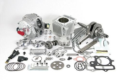 雙火星塞點火超級汽缸頭+R 124cc缸徑,行程加大套件(附自動減壓)