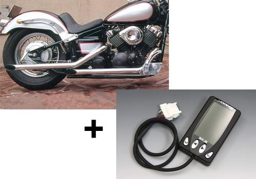 直線加速式樣排氣管&I-CON2套組