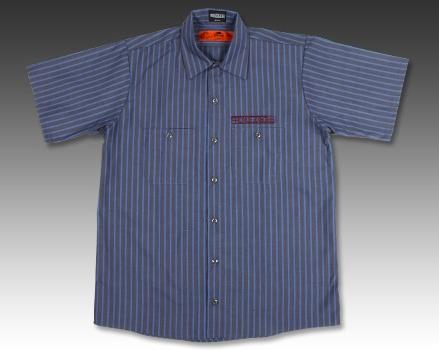 【BREDGE×RED KAP】 短袖條紋工作襯衫