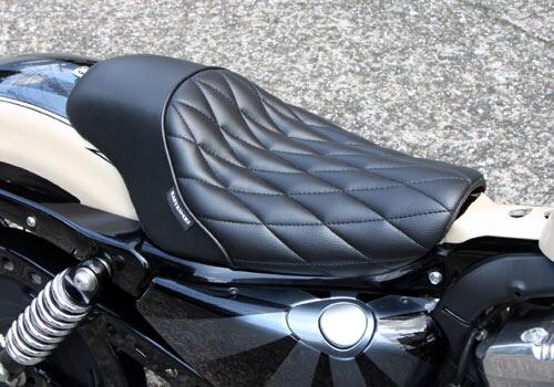 菱型格紋單坐墊