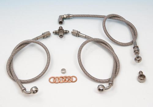不鏽鋼前金屬煞車油管套件 (雙碟盤用)