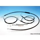 【EASYRIDERS】1.0m 標準型黑色金屬拉索&黑色金屬煞車油管套件
