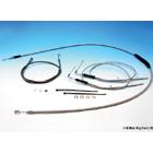 【EASYRIDERS】9吋 1.3m 不鏽鋼金屬長拉索&金屬煞車油管套件