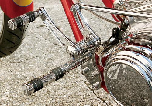 【EASYRIDERS】【Allen Ness製】Diamond Flatband 腳踏桿 - 「Webike-摩托百貨」