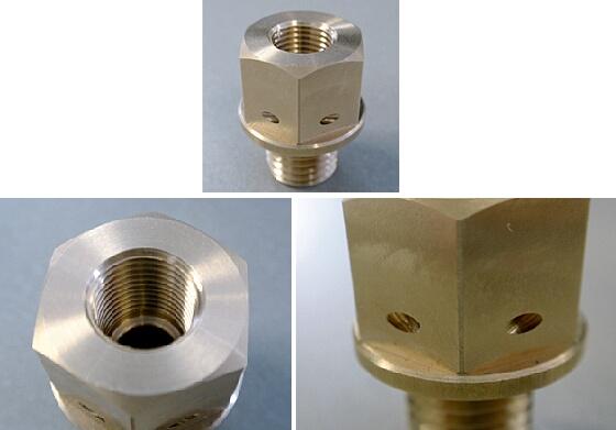 感應器接頭 附保險鋼絲孔  M12P1.5-PT1/8-28