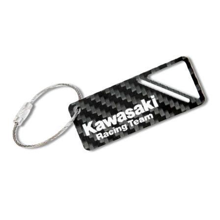 Kawasaki 競賽型車隊碳纖維鑰匙圈