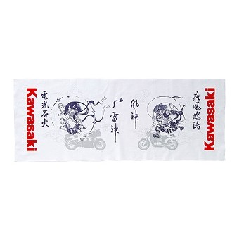 Kawasaki 風神雷神日本手拭巾