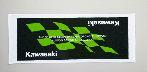 Kawasaki 勝利格紋毛巾