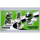 kawasaki 賽車安全帽貼紙 KAWASAKI