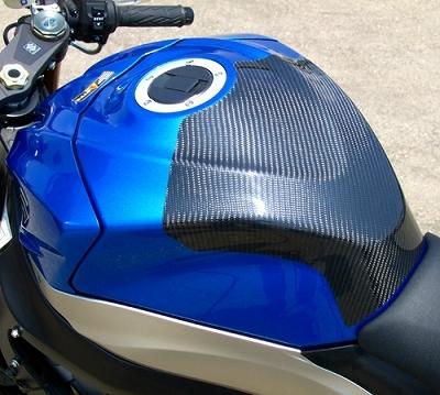 09 GSX-R1000碳纖維油箱保護貼(綾織)