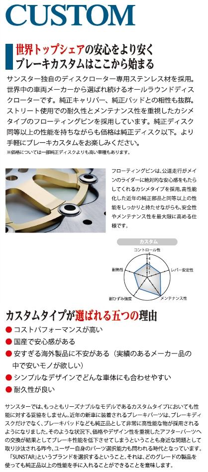 【SUNSTAR】後煞車碟盤 - 「Webike-摩托百貨」