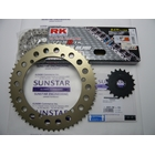 SUNSTAR Front/Rear Sprocket & Chain/Crimp Joint Set