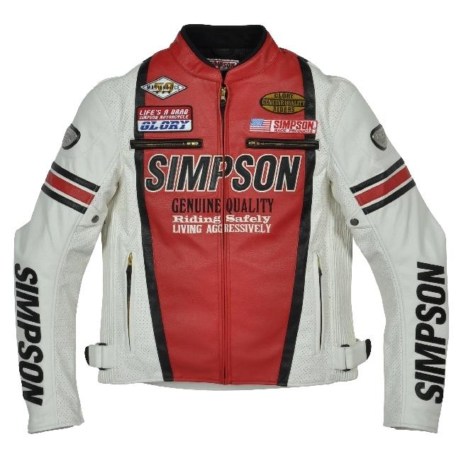 【SIMPSON】打孔仿皮外套 SJ-3113 - 「Webike-摩托百貨」