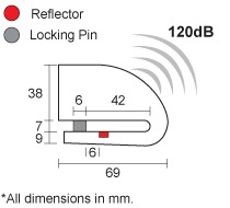 【XENA】警報碟盤鎖 XZZ6L-HD - 「Webike-摩托百貨」